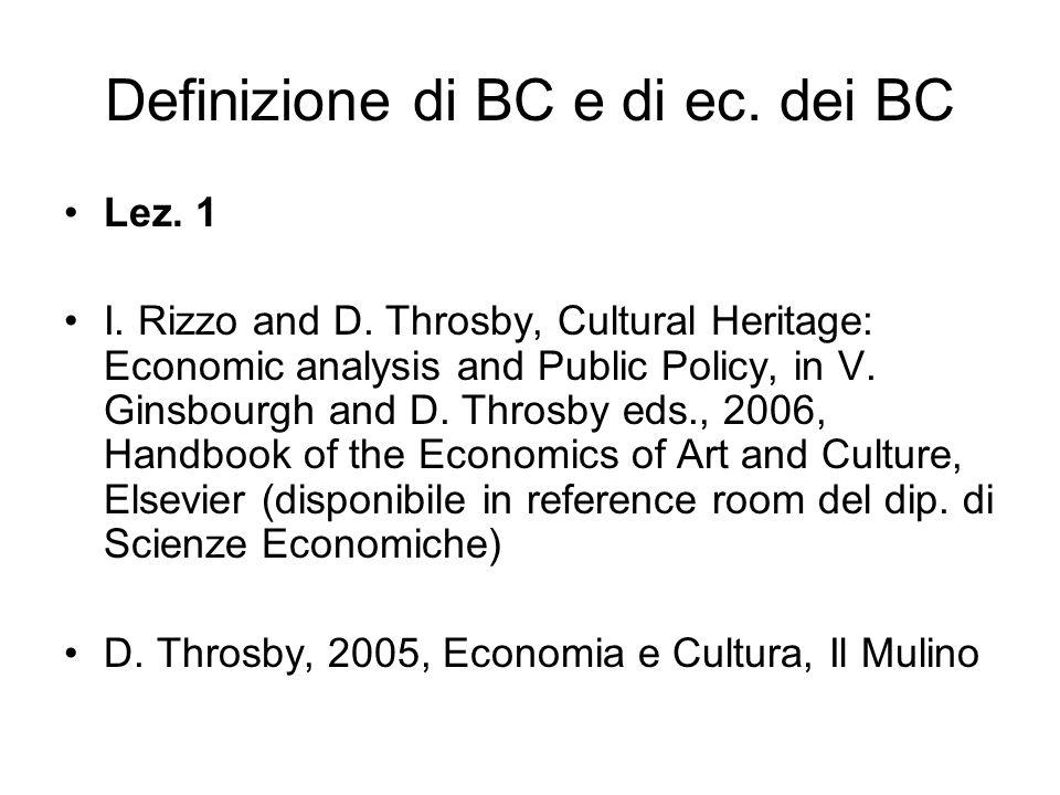 BC: la spesa in Italia Lez.2 C. Bodo, S.