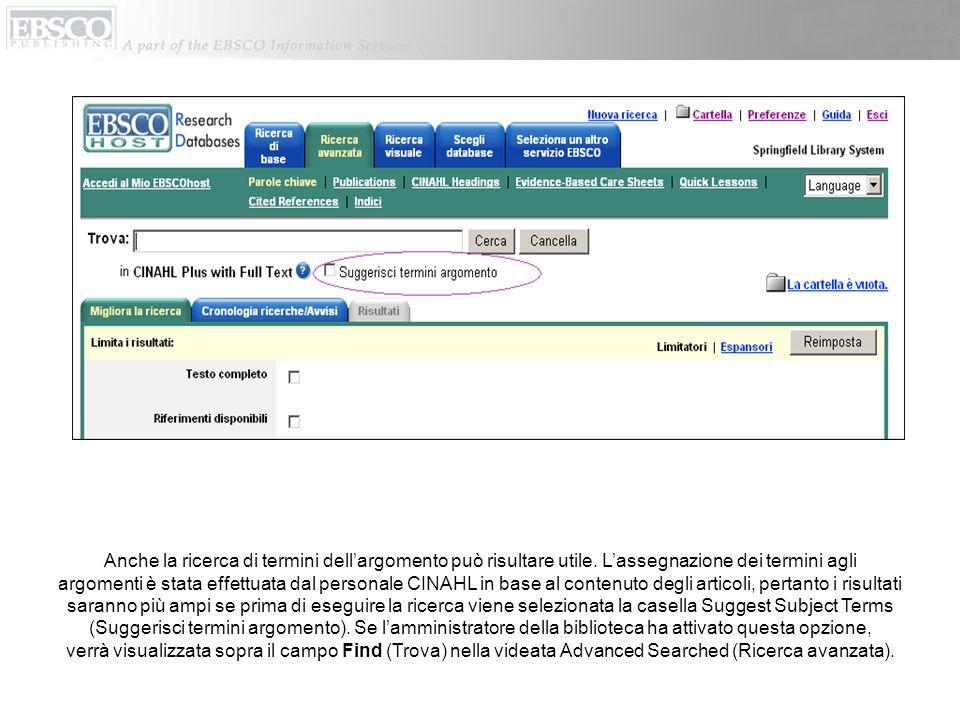 Fare clic sul pulsante Evidence-Based Care Sheets (Bollettino medico) o Quick Lessons (Lezioni brevi) per visualizzare un elenco di tutti gli argomenti in cui sono disponibili tali documenti.