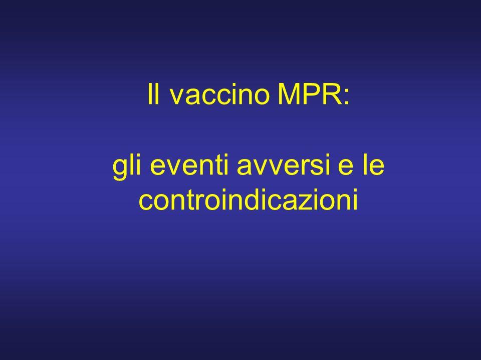Il vaccino MPR: gli eventi avversi e le controindicazioni