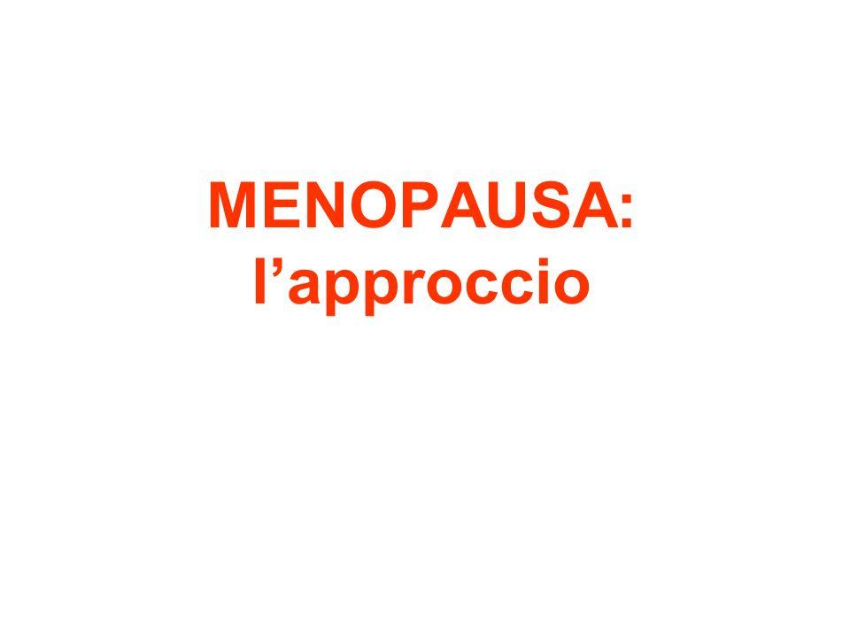 MENOPAUSA: lapproccio