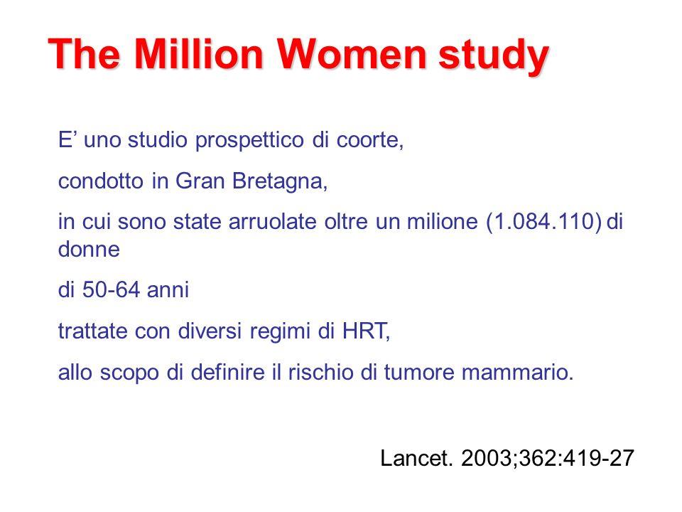 The Million Women study E uno studio prospettico di coorte, condotto in Gran Bretagna, in cui sono state arruolate oltre un milione (1.084.110) di don