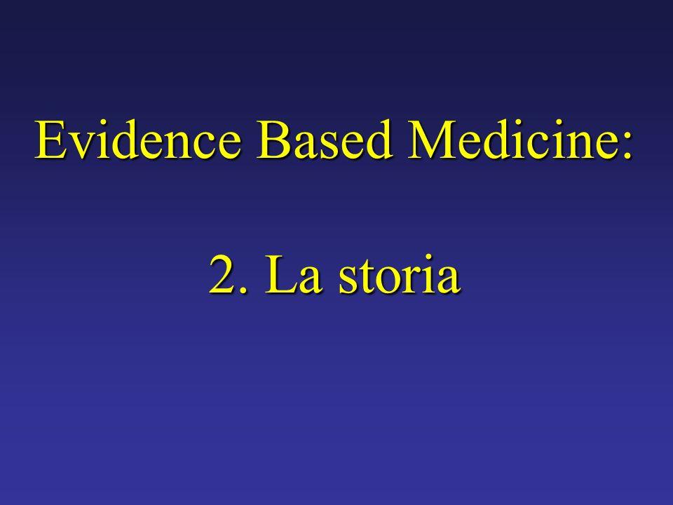 Evidence Based Medicine: 2. La storia