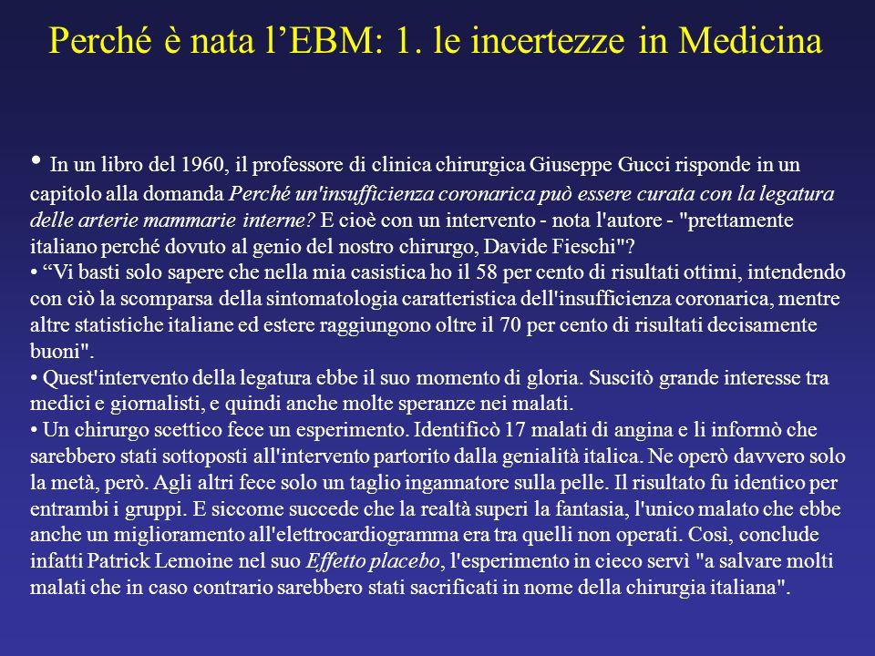In un libro del 1960, il professore di clinica chirurgica Giuseppe Gucci risponde in un capitolo alla domanda Perché un'insufficienza coronarica può e