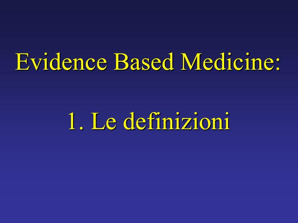Evidence Based Medicine: 1. Le definizioni
