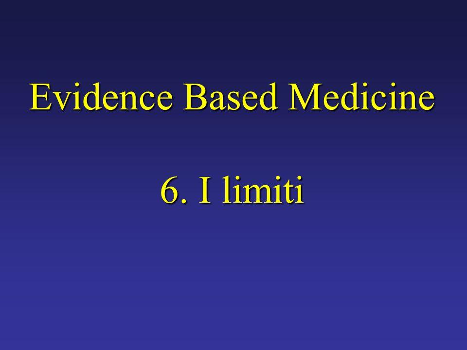 Evidence Based Medicine 6. I limiti