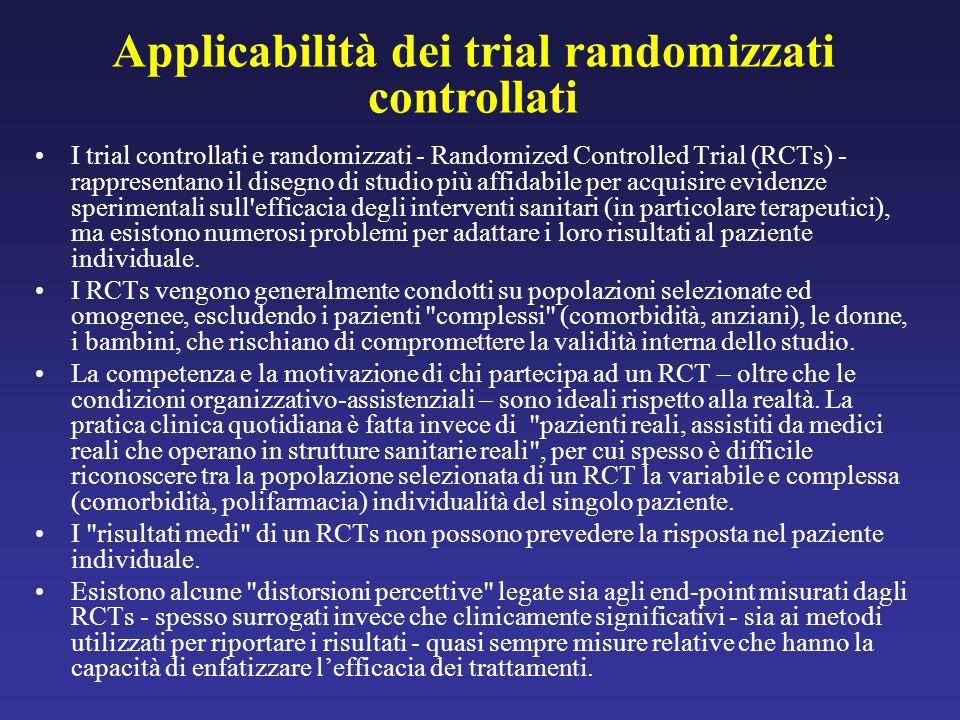 I trial controllati e randomizzati - Randomized Controlled Trial (RCTs) - rappresentano il disegno di studio più affidabile per acquisire evidenze spe