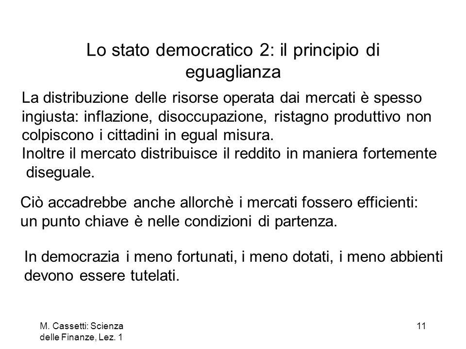 M. Cassetti: Scienza delle Finanze, Lez. 1 12