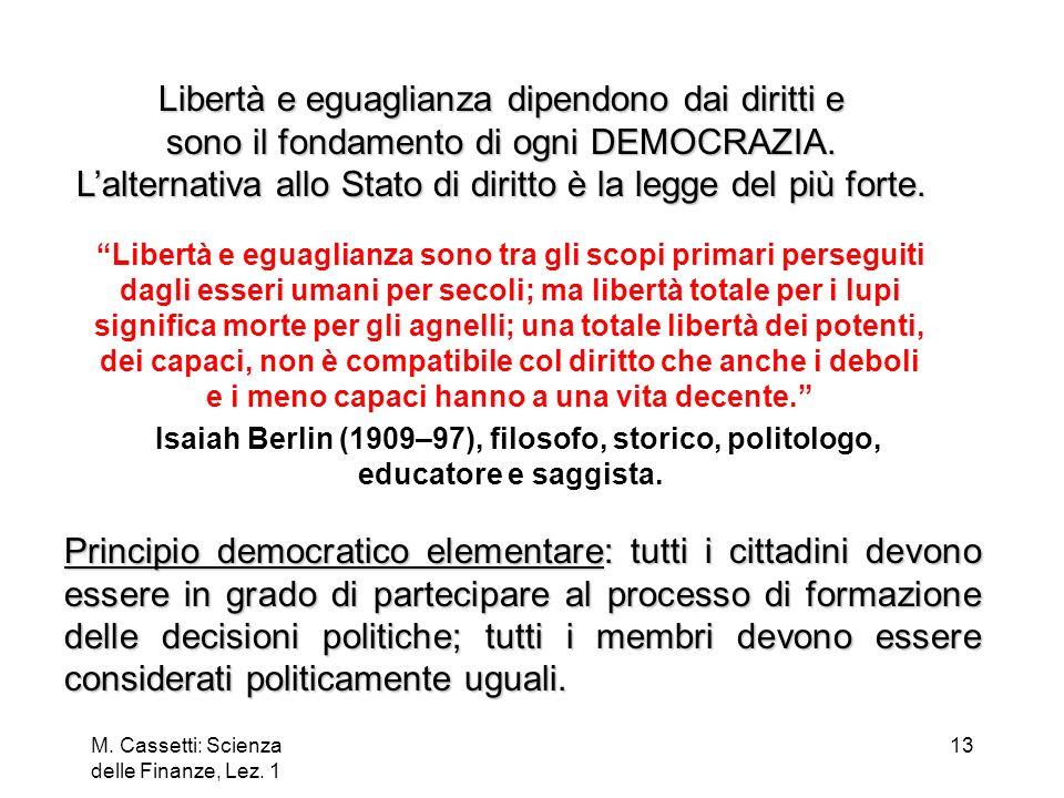 M.Cassetti: Scienza delle Finanze, Lez.