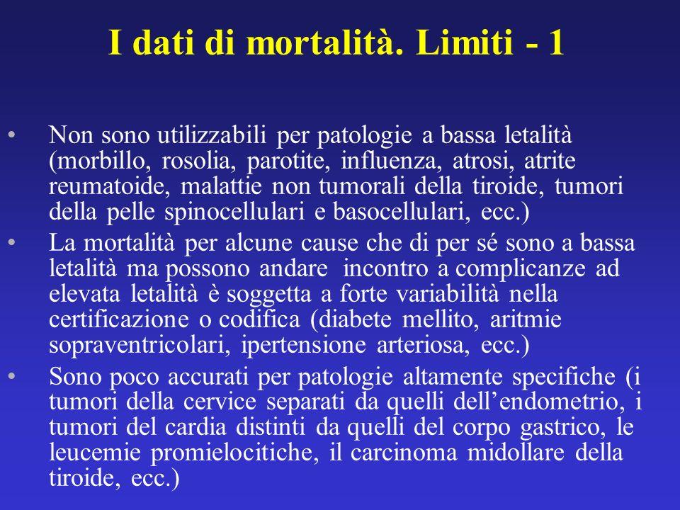 Non sono utilizzabili per patologie a bassa letalità (morbillo, rosolia, parotite, influenza, atrosi, atrite reumatoide, malattie non tumorali della t