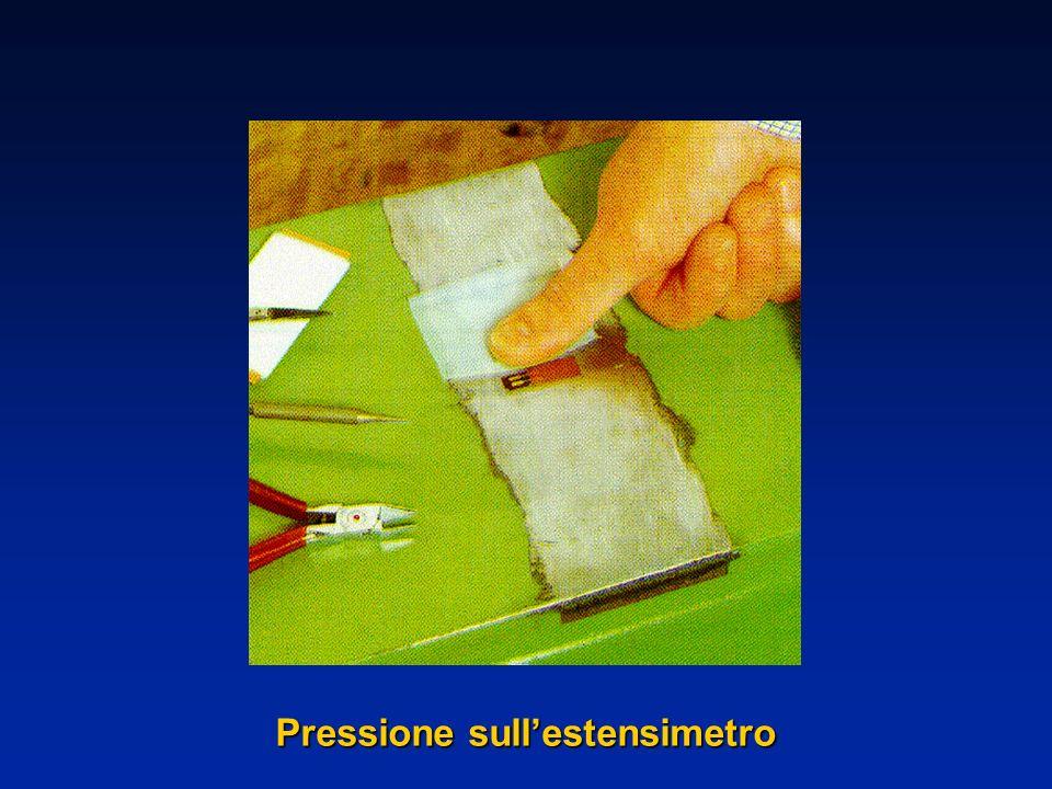 Pressione sullestensimetro