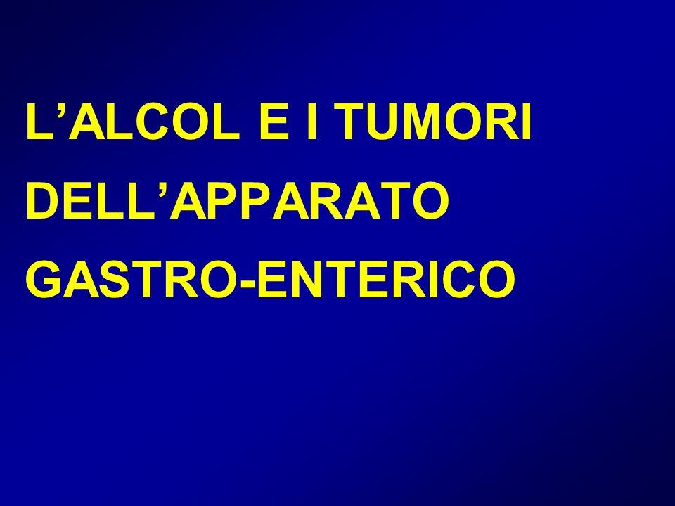 LALCOL E I TUMORI DELLAPPARATO GASTRO-ENTERICO
