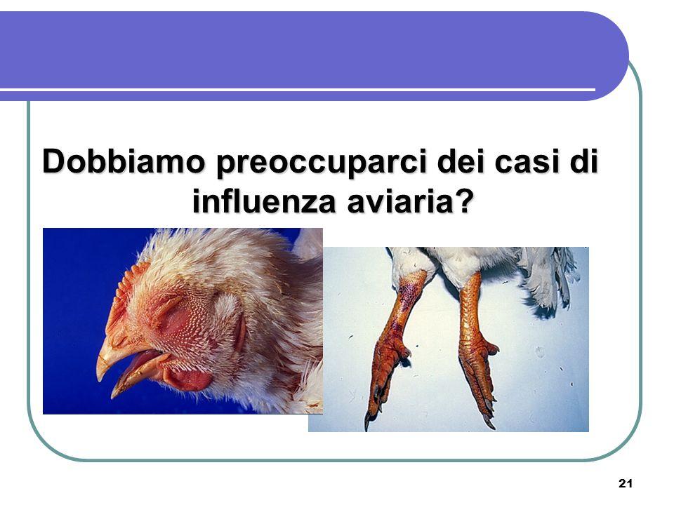 21 Dobbiamo preoccuparci dei casi di influenza aviaria?