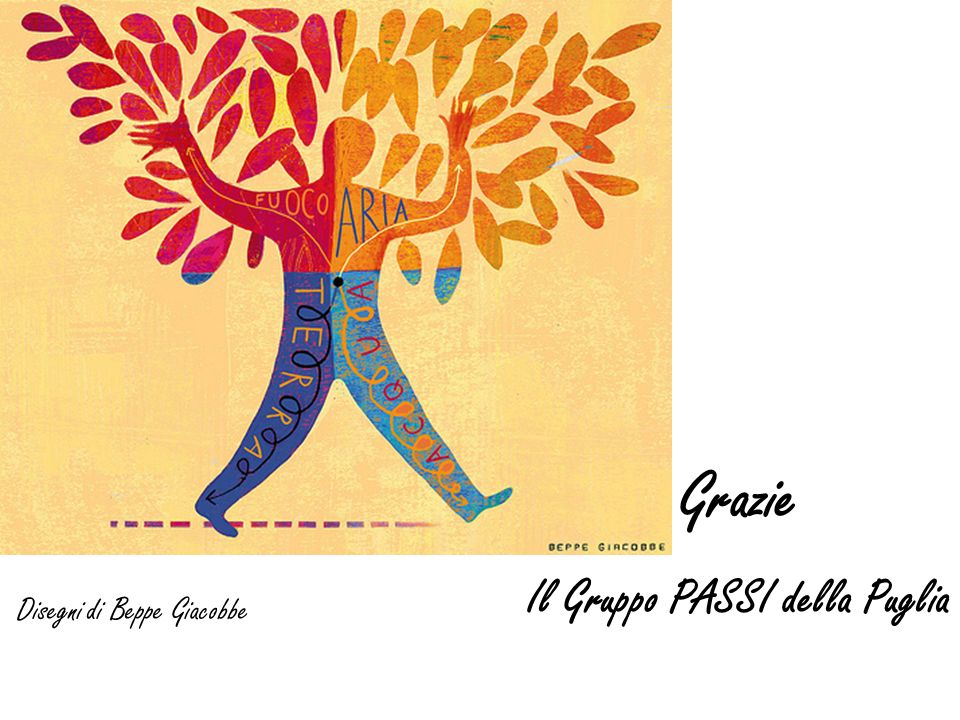 Grazie Il Gruppo PASSI della Puglia Disegni di Beppe Giacobbe