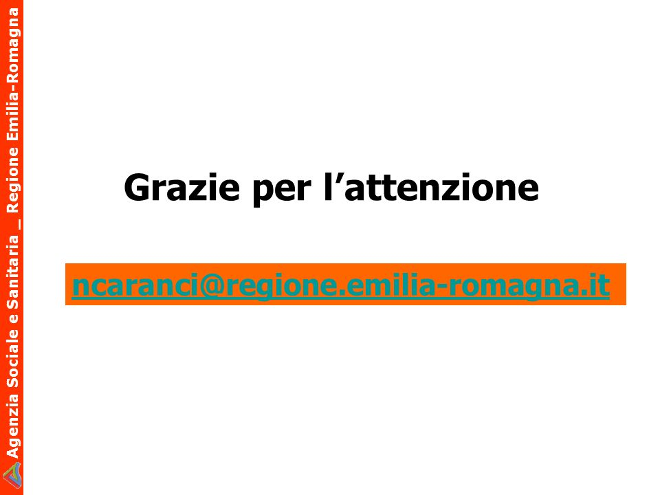 Agenzia Sociale e Sanitaria _ Regione Emilia-Romagna Grazie per lattenzione ncaranci@regione.emilia-romagna.it