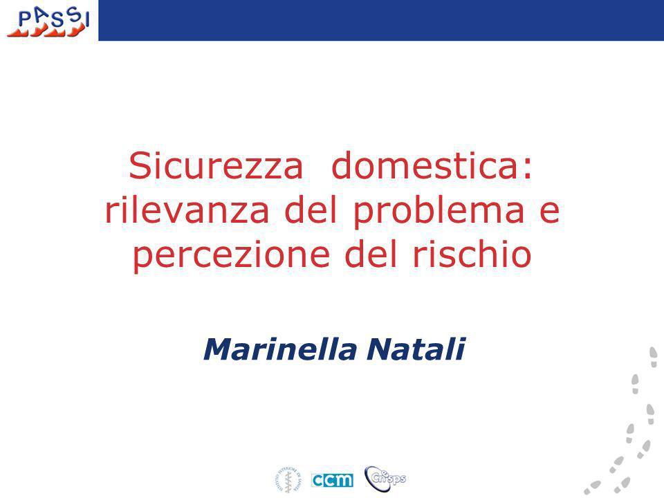 Sicurezza domestica: rilevanza del problema e percezione del rischio Marinella Natali