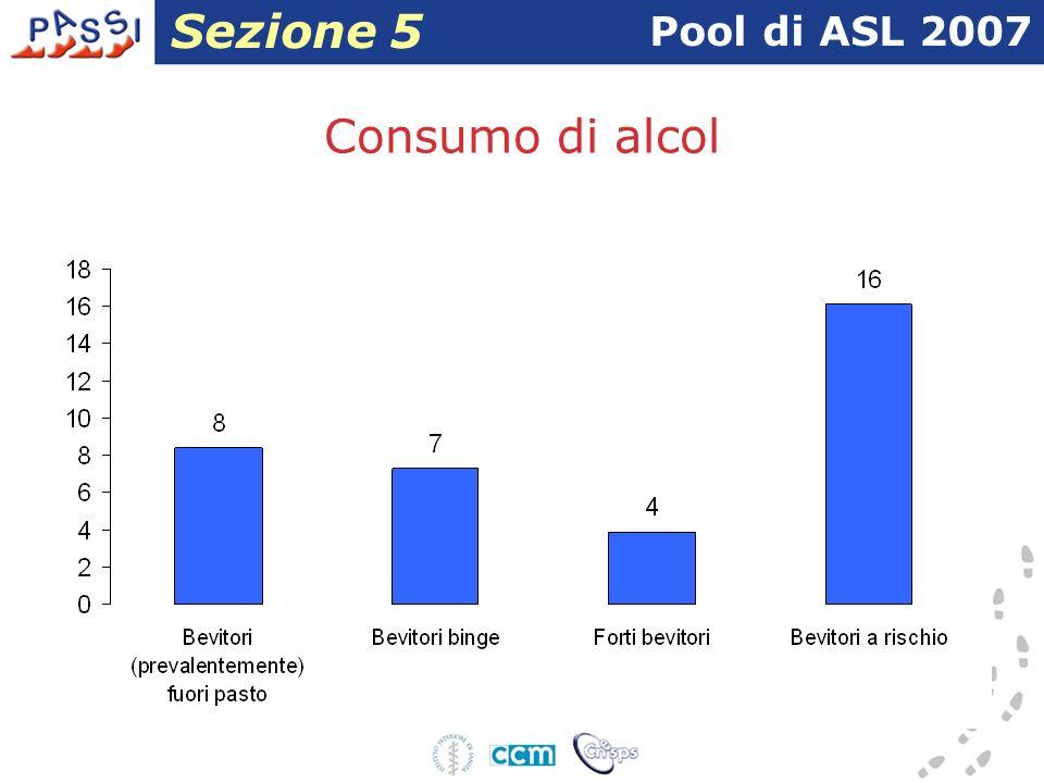 Consumo di alcol Pool di ASL 2007 Sezione 5