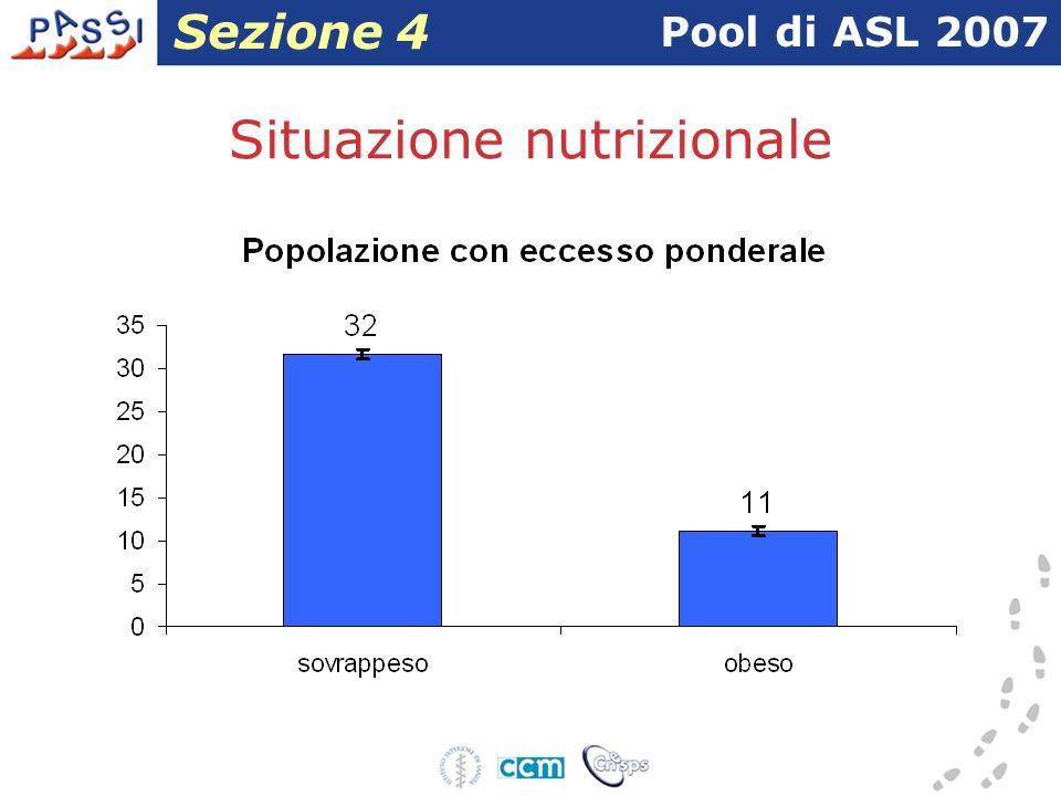 Situazione nutrizionale Pool di ASL 2007 Sezione 4