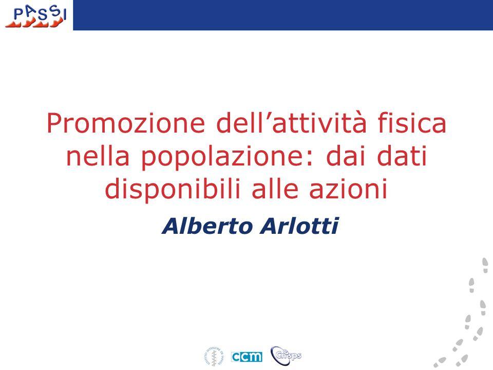 Promozione dellattività fisica nella popolazione: dai dati disponibili alle azioni Alberto Arlotti