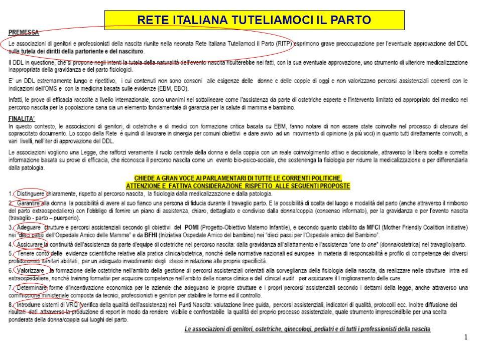 RETE ITALIANA TUTELIAMOCI IL PARTO