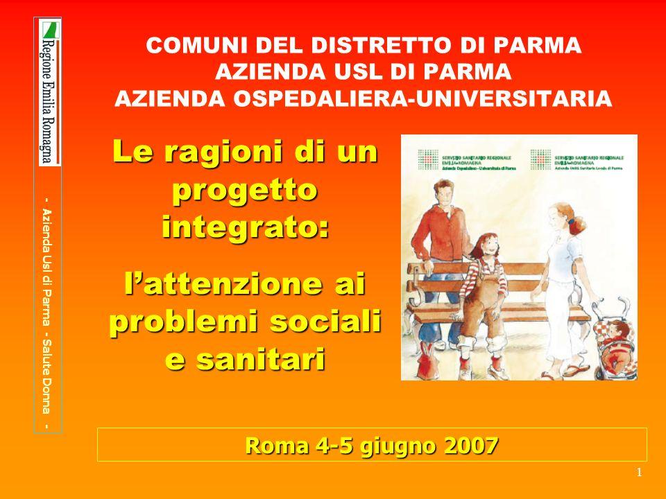 22 PERCORSO NASCITA PERCORSO NASCITA Comune di Parma: Servizio Front Office Adulti Famiglie ed età evolutiva (S.O.