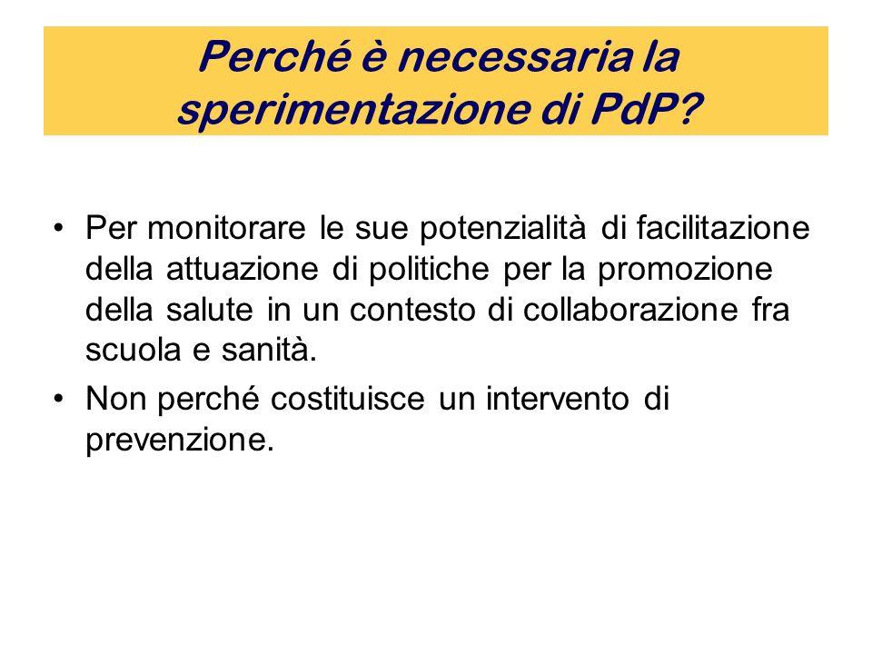 Perché è necessaria la sperimentazione di PdP.