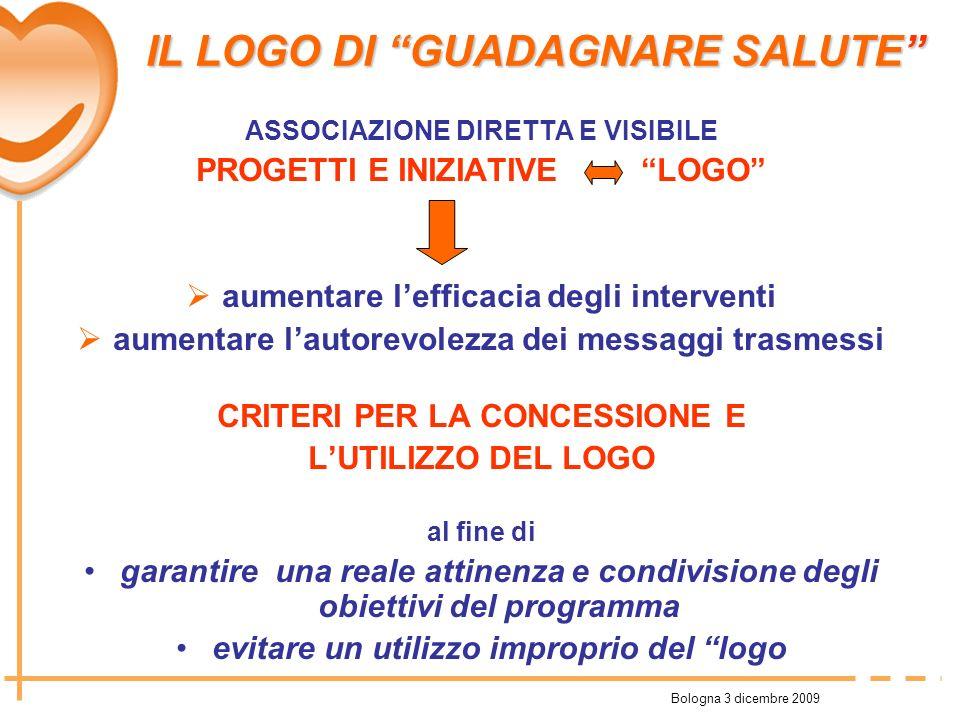Bologna 3 dicembre 2009 ASSOCIAZIONE DIRETTA E VISIBILE PROGETTI E INIZIATIVE LOGO aumentare lefficacia degli interventi aumentare lautorevolezza dei