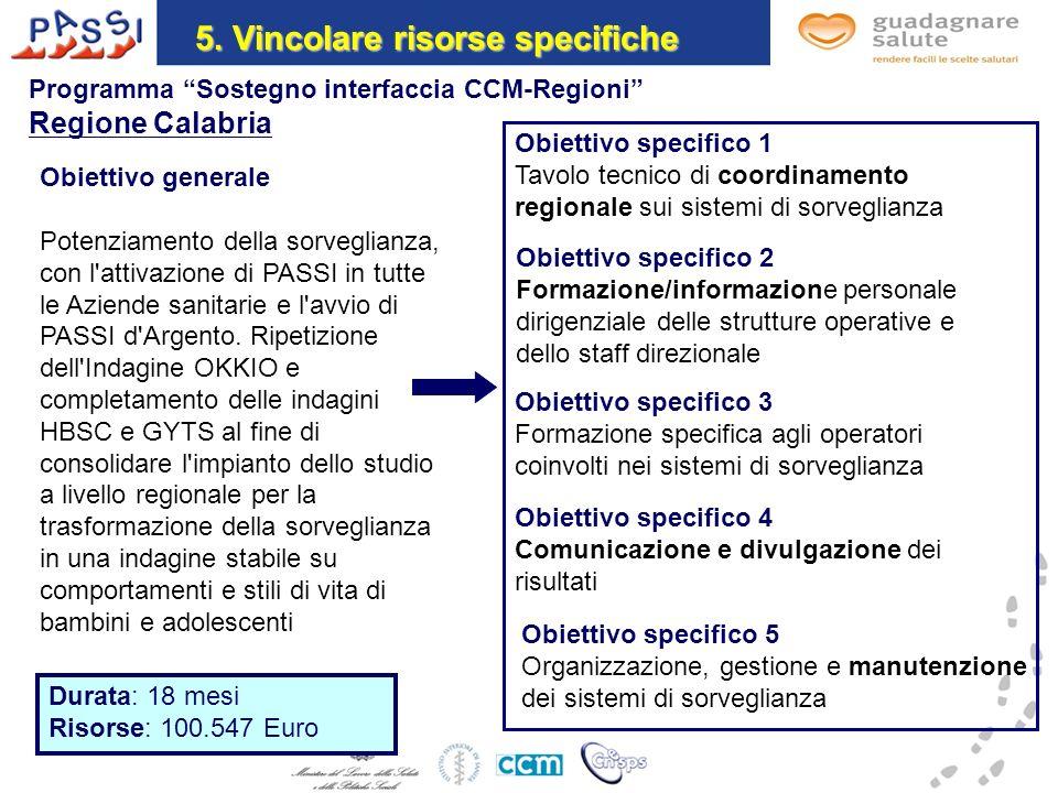 Obiettivo generale Potenziamento della sorveglianza, con l attivazione di PASSI in tutte le Aziende sanitarie e l avvio di PASSI d Argento.