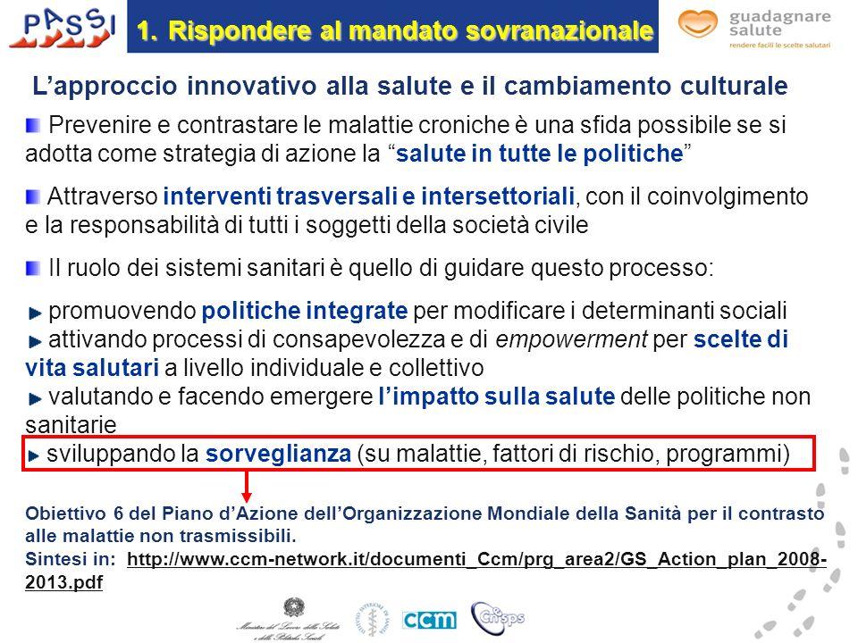 1.La risposta italiana 1.Sorveglianza sindromica.