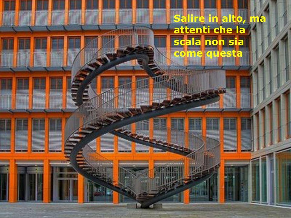 Salire in alto, ma attenti che la scala non sia come questa