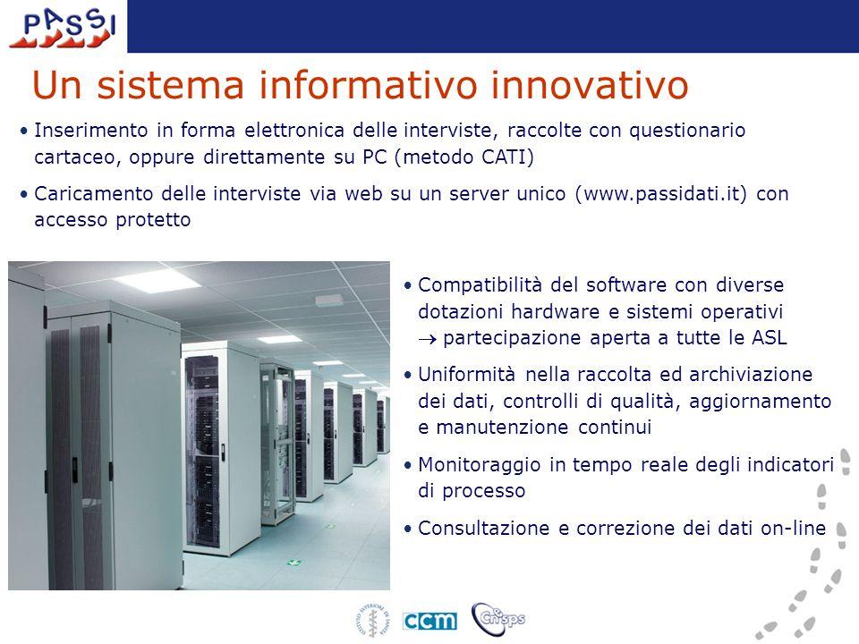 Un sistema informativo innovativo Compatibilità del software con diverse dotazioni hardware e sistemi operativi partecipazione aperta a tutte le ASL U