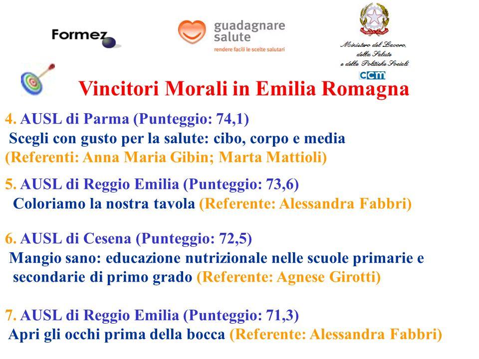 Vincitori Morali in Emilia Romagna 4.