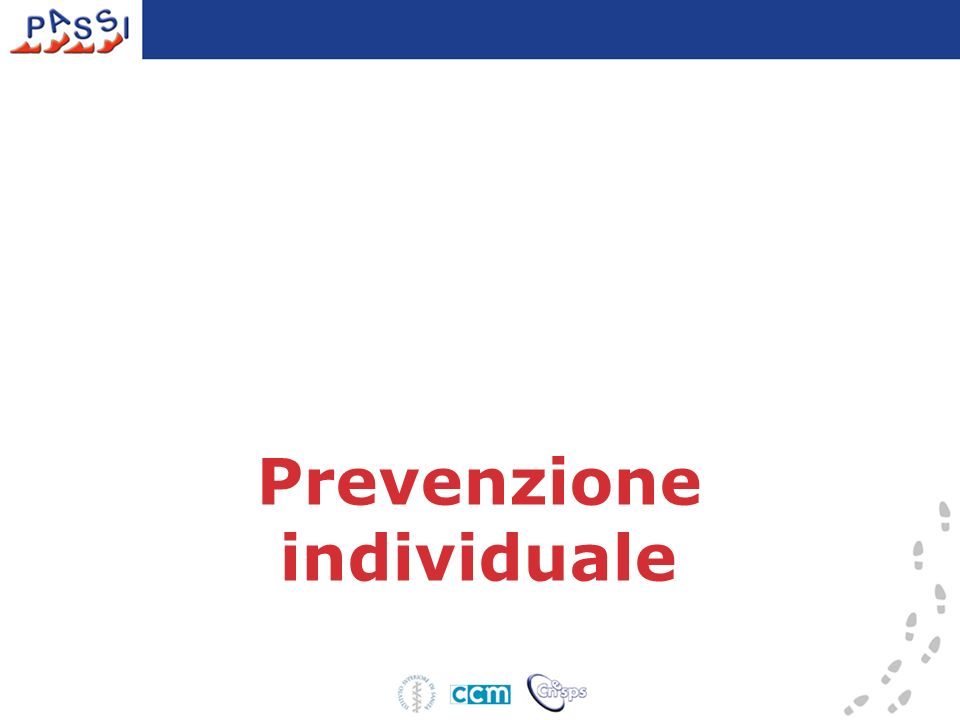 Prevenzione individuale