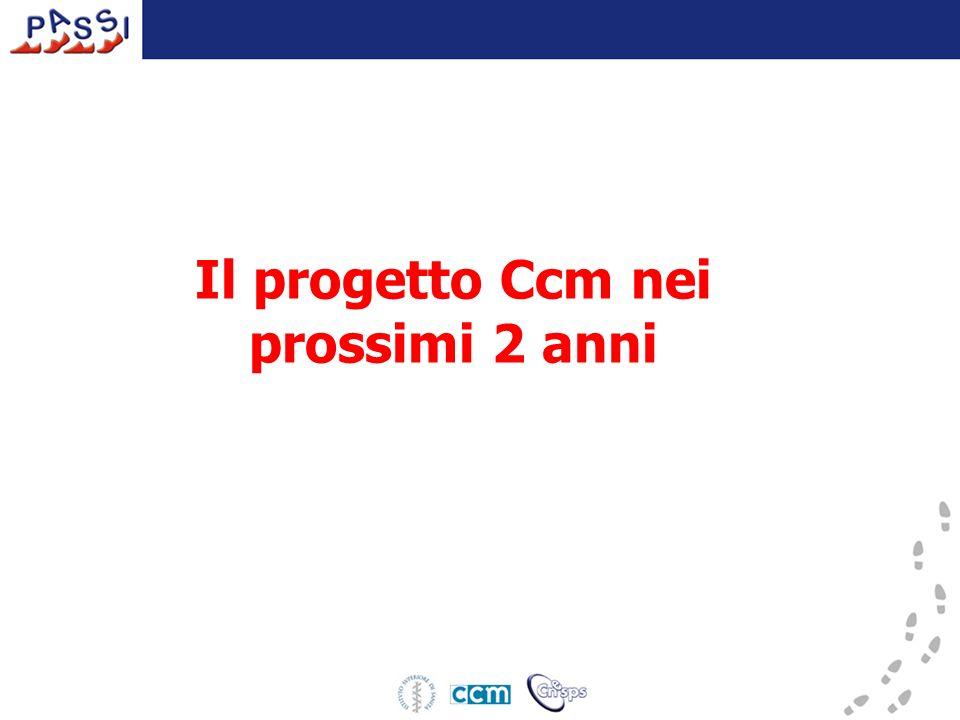 Il progetto Ccm nei prossimi 2 anni