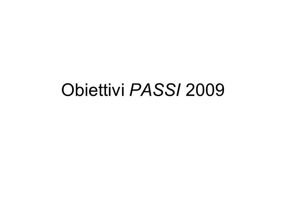 Obiettivi PASSI 2009