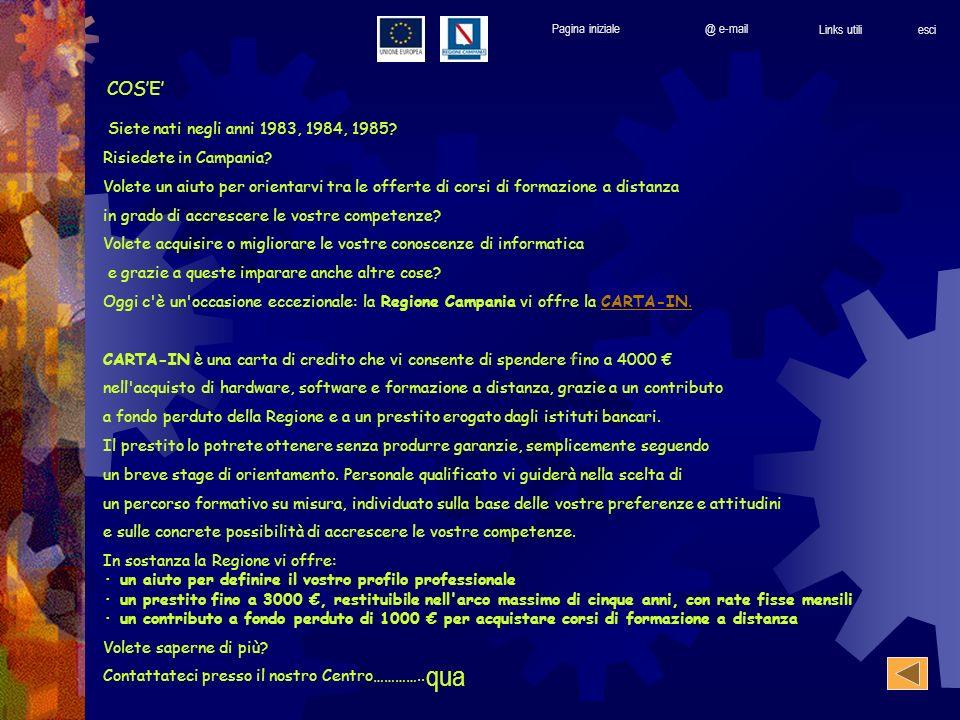 Siete nati negli anni 1983, 1984, 1985. Risiedete in Campania.