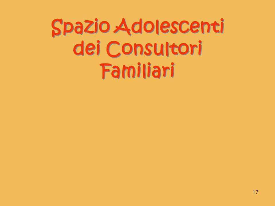 17 Spazio Adolescenti dei Consultori Familiari