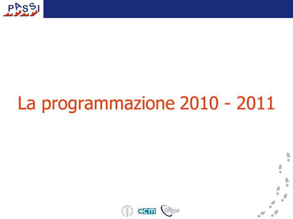 La programmazione 2010 - 2011