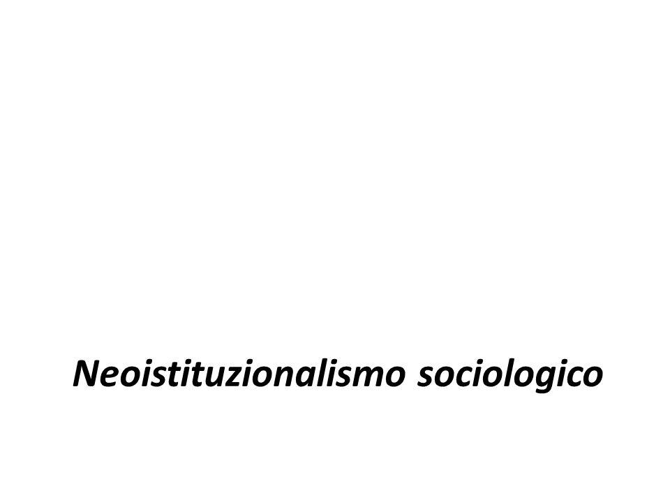 Neoistituzionalismo sociologico