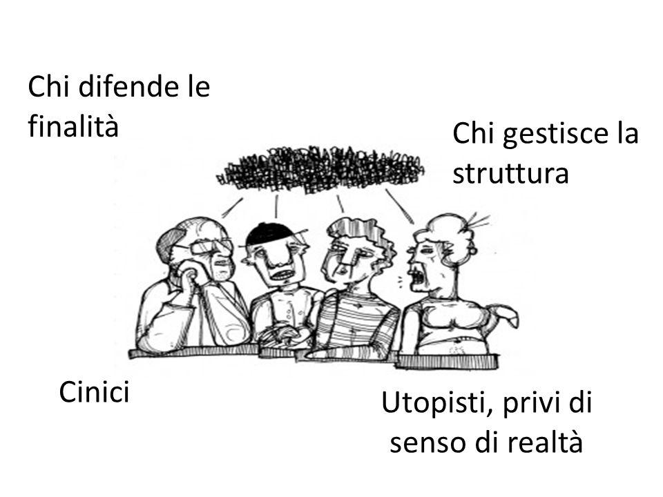 Chi difende le finalità Cinici Utopisti, privi di senso di realtà Chi gestisce la struttura