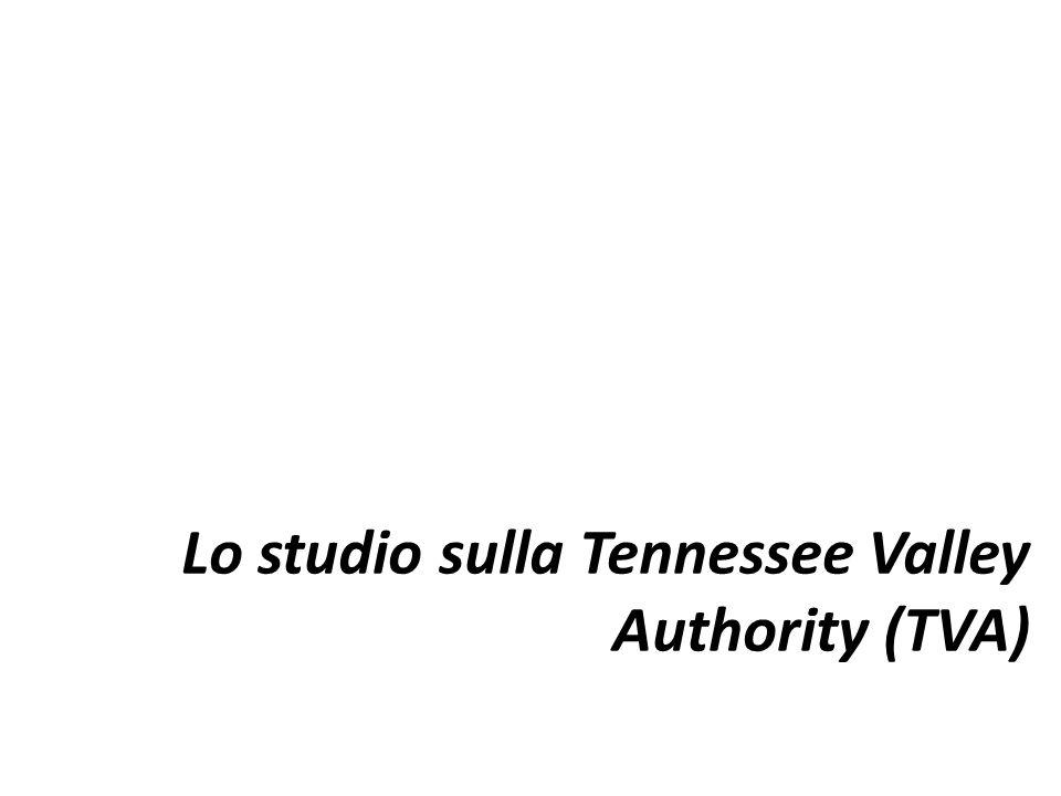 Lo studio sulla Tennessee Valley Authority (TVA)