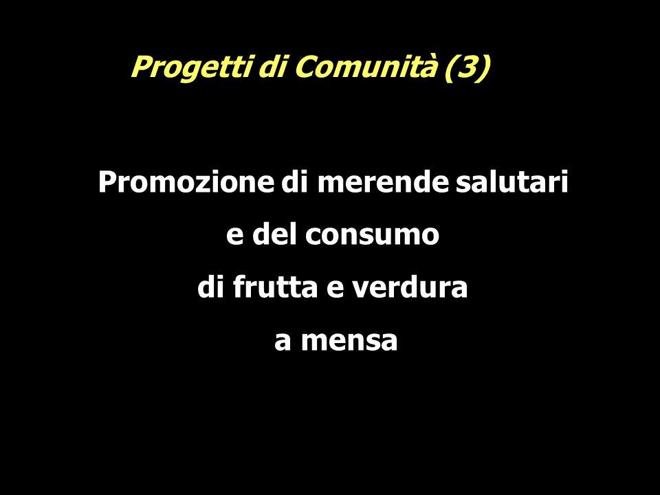Promozione di merende salutari e del consumo di frutta e verdura a mensa Progetti di Comunità (3)
