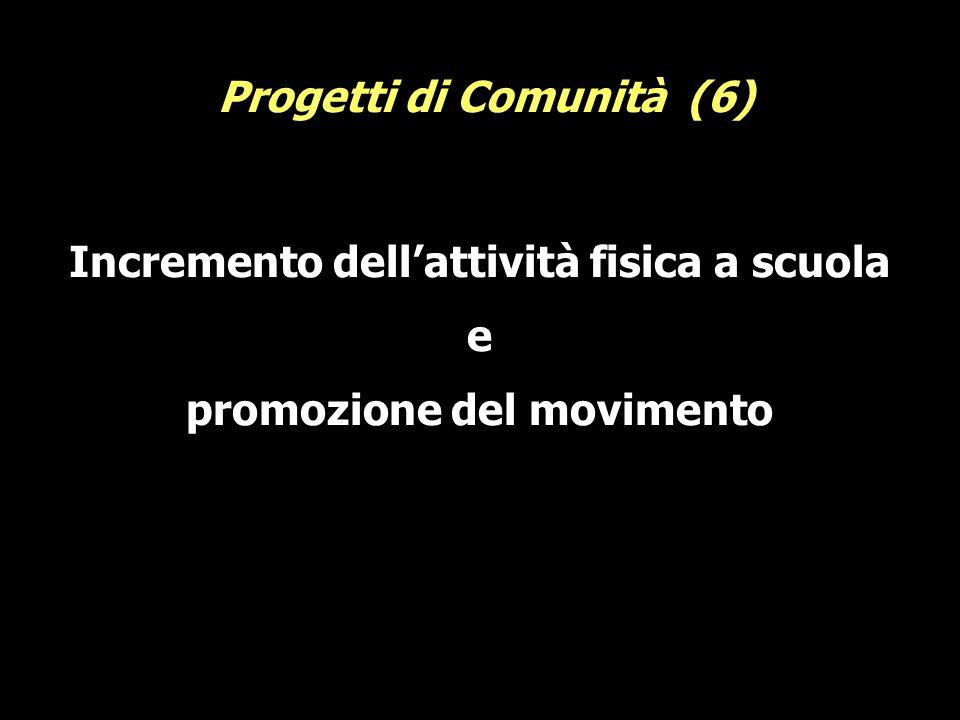 Incremento dellattività fisica a scuola e promozione del movimento Progetti di Comunità (6)