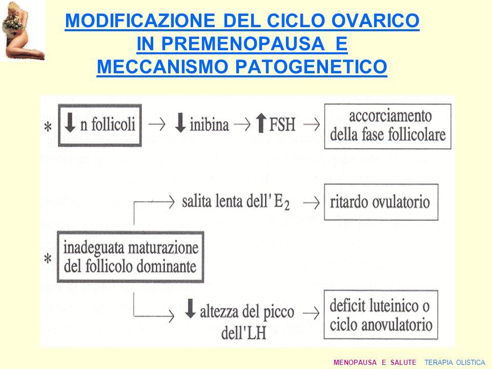 MODIFICAZIONE DEL CICLO OVARICO IN PREMENOPAUSA E MECCANISMO PATOGENETICO MENOPAUSA E SALUTE TERAPIA OLISTICA