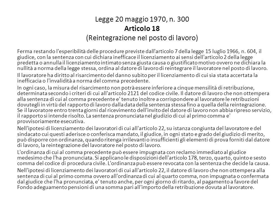 Disegno di legge recante disposizioni in materia di riforma del mercato del lavoro in una prospettiva di crescita 23 marzo 2012 Art.