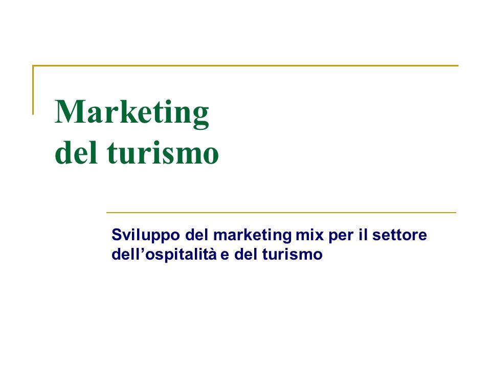 Marketing del turismo Sviluppo del marketing mix per il settore dellospitalità e del turismo