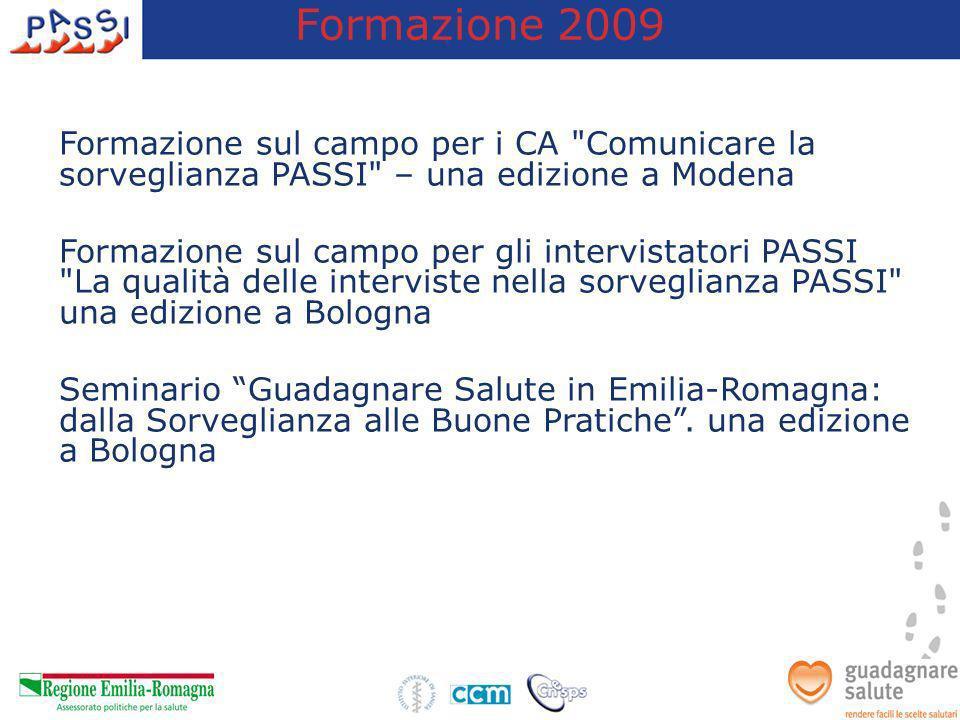 Formazione 2009 Formazione sul campo per i CA