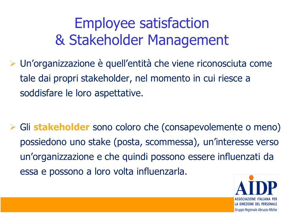 Unorganizzazione è quellentità che viene riconosciuta come tale dai propri stakeholder, nel momento in cui riesce a soddisfare le loro aspettative. Gl