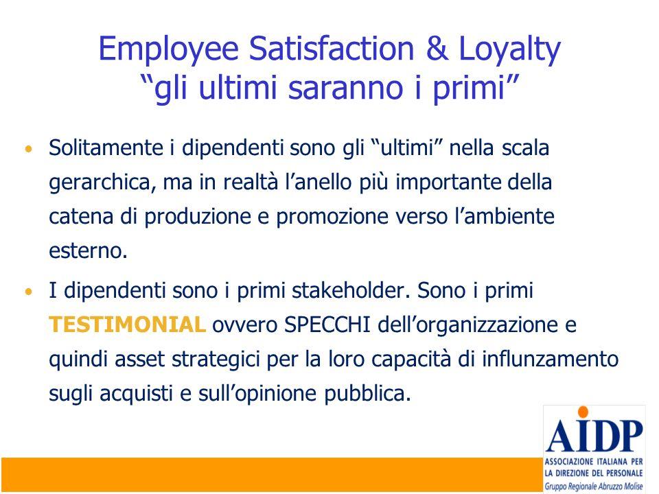 Solitamente i dipendenti sono gli ultimi nella scala gerarchica, ma in realtà lanello più importante della catena di produzione e promozione verso lam