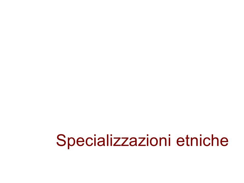 Specializzazioni etniche