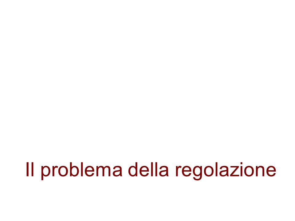 Il problema della regolazione